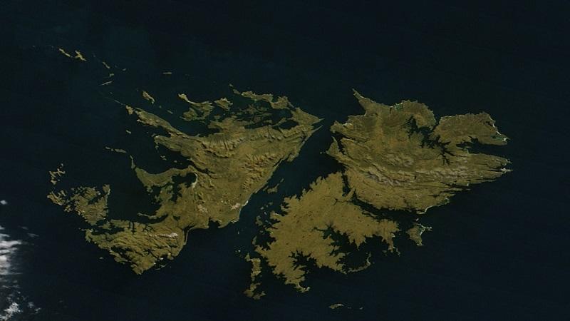 Фолклендские острова на карте мира