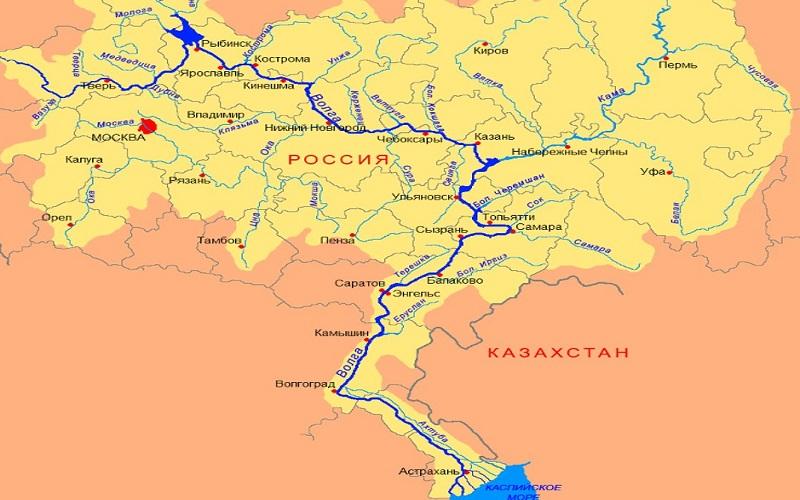 где находится устье реки Волг