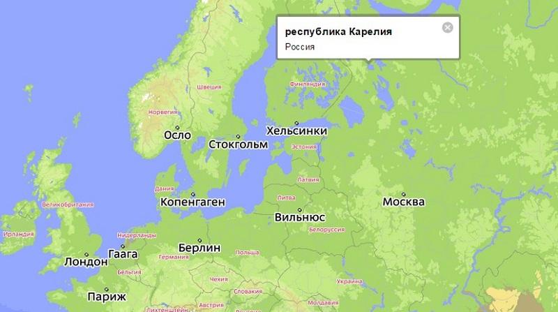 республика Карелия на карте России