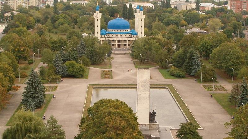 Майкоп на карте Краснодарского края