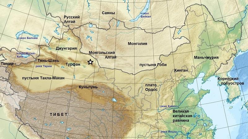 где находится пустыня Гоби на карте мира