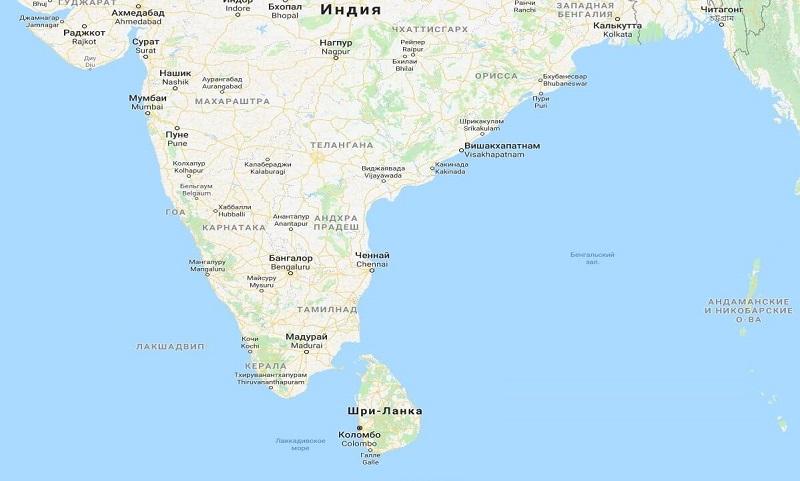 где находится Шри-Ланка какая страна